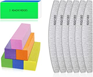 Nail Files and Buffers - Professional Nail Files Block for Nail Grinding Polishing, Manicure Tools for Nail Art Gel Suit for Home and Salons Use