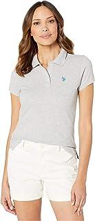 Women's Solid Pique Polo Shirt