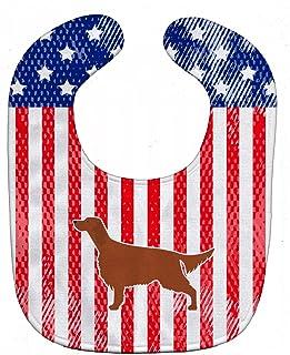 Caroline's Treasures BB3293BIB Patriotic USA Baby Bib, I Rish Setter, Large