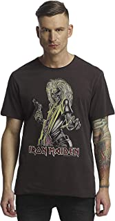 Amplified - Camiseta para hombre con diseño de Iron Maiden Killers, color carbón