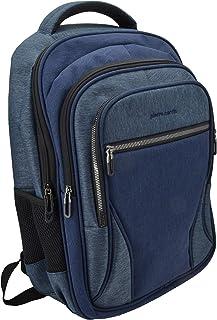 Mochila de hombre para portátil 15,6/17 pulgadas, con puerto USB, Trabajo, Viajes, Universidad. Blu Jeans 4 cerniere -