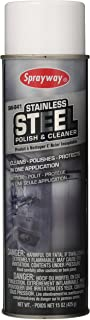 Sprayway SW841 Stainless Steel Cleaner and Polish, Protects and Preserves, Resists Streaks and Finger prints, 15 Oz