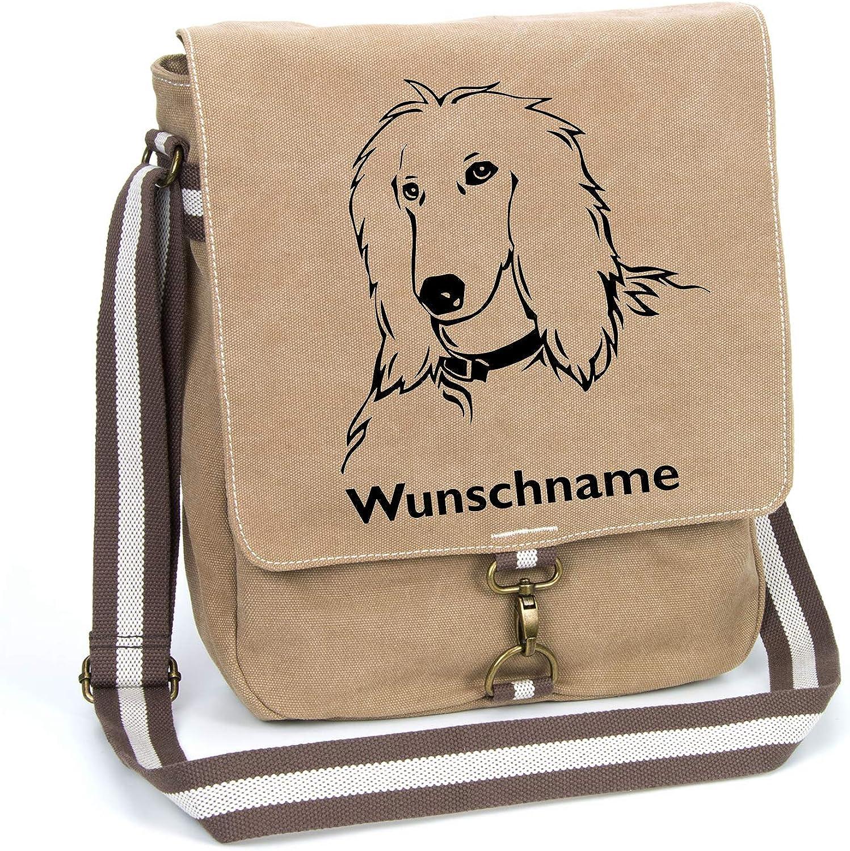 Afghanischer Windhund Afghane Canvas Canvas Canvas Schultertasche Umhängetasche Tasche mit Hundemotiv und Namen personalisiert (Motiv 1) B07KZRTH3G e7d07e
