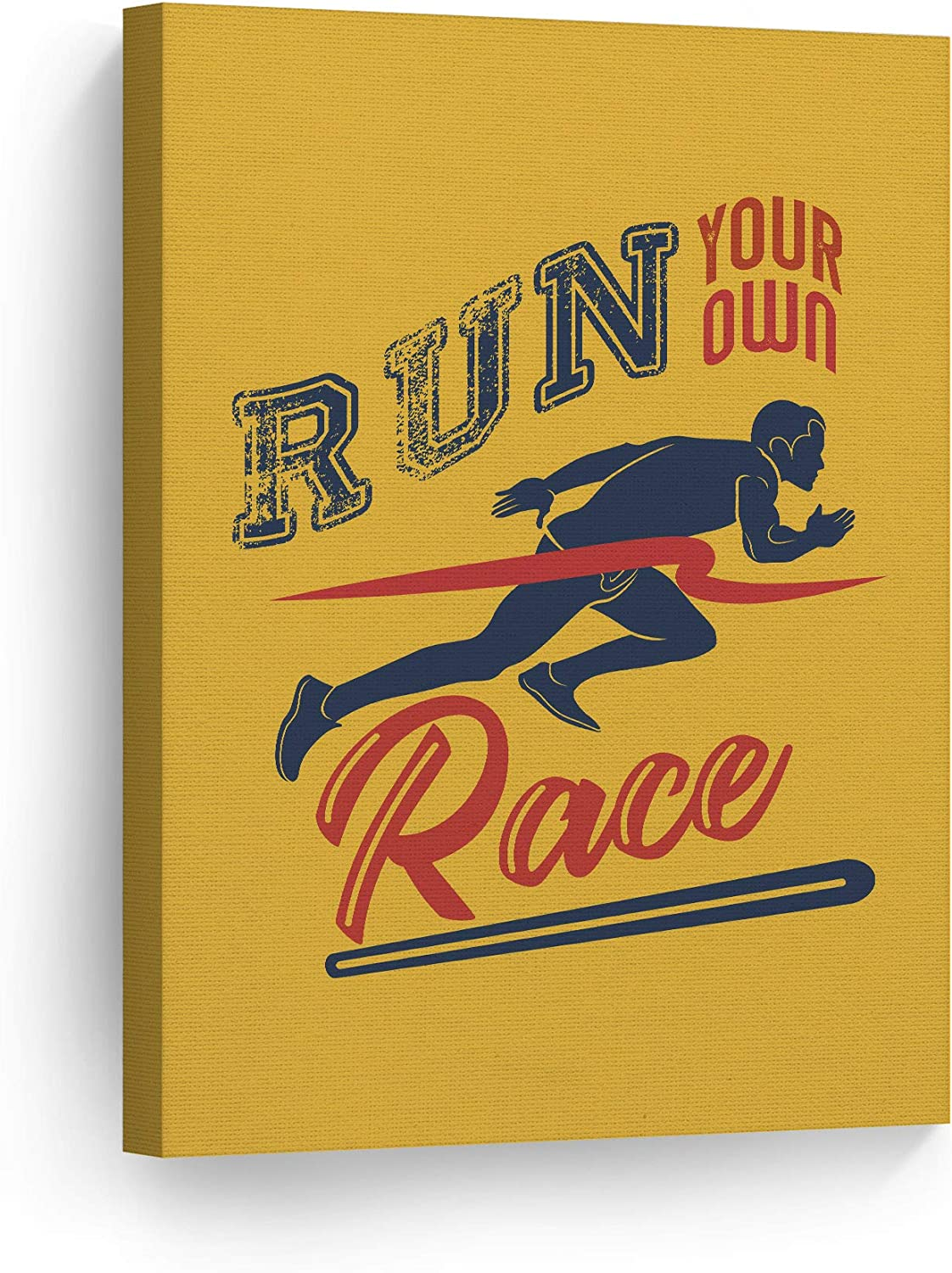 Amazon Com Smile Art Design Run Your Own Race Inspiring Quote Running Jogging Motivational Canvas Wall Art Inspirational Wall Art Entrepreneur Quote Print Modern Office Decor Artwork Gift Ready To Hang 12x8 Posters