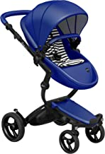 Mima Xari Stroller (Black Chassis, Royal Blue Seat, Black & White Stater Pack)