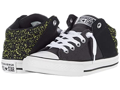 Converse Kids Chuck Taylor(r) All Star(r) Axel Mid (Little Kid/Big Kid) (Almost Black/White/Zinc Yellow) Boys Shoes