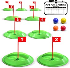 GoSports Pure Putt Challenge Mini Golf Game - Build Your Own Course at Home, The Office or On The Green | Includes 9 Holes, 4 Balls, Dry-Erase Scorecard, Tote Bag & Rules