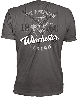 Official Winchester 1866 Horse and Rider Logo Graphic Short Sleeve Men's Cotton T-Shirt