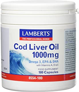 Lamberts Aceite 1000 mg. 180 capsulas