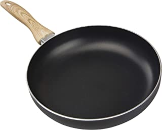 """Country Kitchen 9.5"""" Nonstick Aluminum Frying Pan with Soft Touch Silicone Handle – Black"""