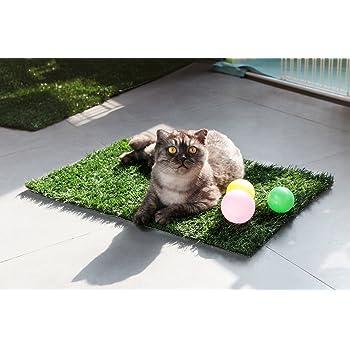 GOLDEN MOON Grass Pee Pad Artificial Turf Pet Potty Trainer Indoor Outdoor Replacement Pet Grass Mat
