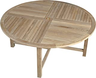 NTDT004 Niagara Teak Dining Table – 70″ Round by Niagara Furniture