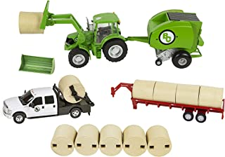 Big Country Toys Hay Baling Set - 1:20 Scale - Hay Baling Toy Set - Farm Toys - Proprietary Blend of Plastic - Durable & Lifelike - Playable & Collectible