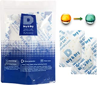 Sponsored Ad - Dry & Dry 20 Gram [30 Packs] Silica Gel Food Safe Orange Indicating(Orange to Dark Green) Mixed Silica Gel ...