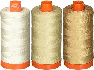 Aurifil 50WT - Solid - Mako Cotton Thread - 1422Yds Each 2310+2311+2314
