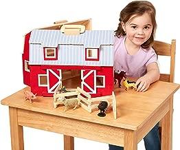 kids play barn