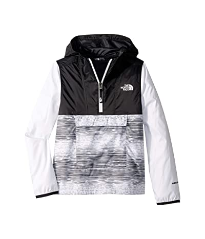 The North Face Kids Novelty Fanorak (Little Kids/Big Kids) (TNF White/Distressed Stripe Print) Girl