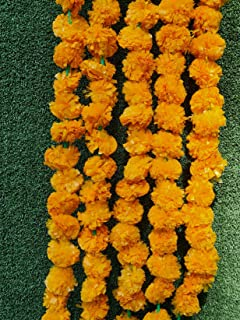 Artificial Orange Marigold Flower Garland Used for parties and celebrations, Indian weddings, Indian themed events, decora...