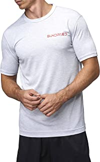 Sundried Mens Tech Gym T Shirt Plain Training Casual Top Made from Coffee