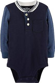 OshKosh B'Gosh Baby Boy Long Sleeve Henley Bodysuit