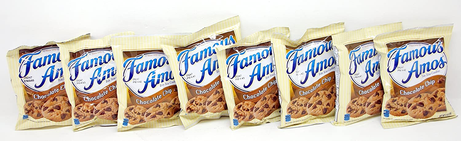 Minneapolis Mall Famous Amos Bite Size Chocolate Chip Pack 8 Each Oz. Max 46% OFF Cookies 2