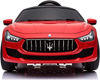 TOBBI Kids Ride On Car Maserati 12V Rechargeable Toy Vehicle w/ MP3 Remote Control Red