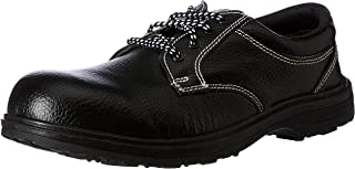 Aktion Safety Synthetic Leather ShoesRA-55C Composite Toe - Size 9, Black