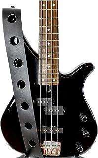 Leather Guitar Strap Large Hole Style Punk Goth Thrash Grunge Eddie Vedder Style