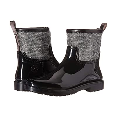 MICHAEL Michael Kors Blakely Rain Boot (Black/Silver) Women