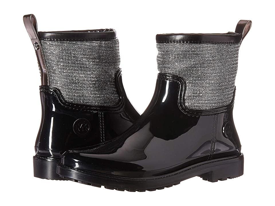 MICHAEL Michael Kors Blakely Rain Boot (Black/Silver) Women