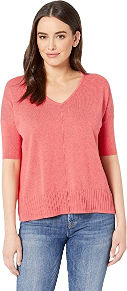 Easy V-Neck Cotton Modal Sweater