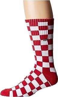 Vans_Apparel, Checkerboard II Crew (9.5-13, 1p) Calcetines, Rojo (Red-White Check Rlm), Talla única para Hombre