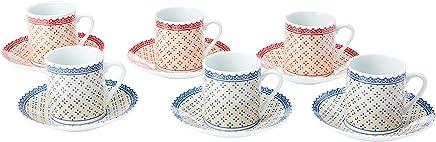 Jogo de 12 Peças para Café Coffee Time em Porcelana Dynasty Branco
