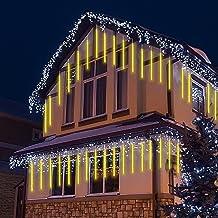 Regen Meteoren Kerstverlichting, 50cm 8 buizen LED Waterdicht Vallende Regen Fairy Fairy Garland Lights voor Thuis Patio O...