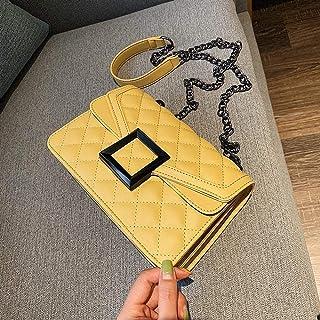 JIGUANG Lingge chain bag women's fashion small square bag Sen series summer bag women's bag shoulder messenger bag,Colour:...