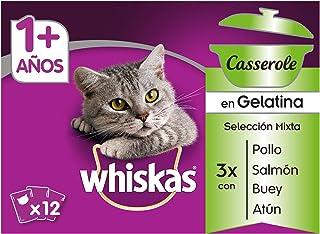 Multipack de 12 bolsitas de 85g Casserole mixto para gatos adultos (Pack de 4)