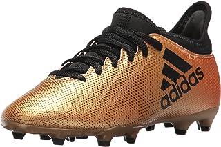 adidas 男童 X 17.3 FG J 足球鞋,黑色/太阳能红/太阳橙色,12 M 码美国小童