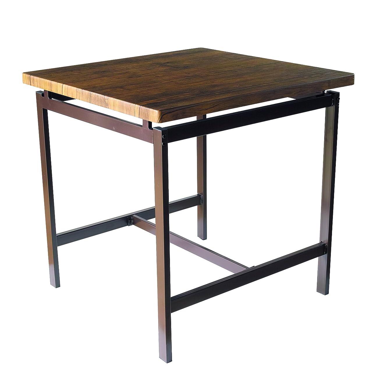 前兆ワークショップデッキ鉄脚 ダイニングテーブル
