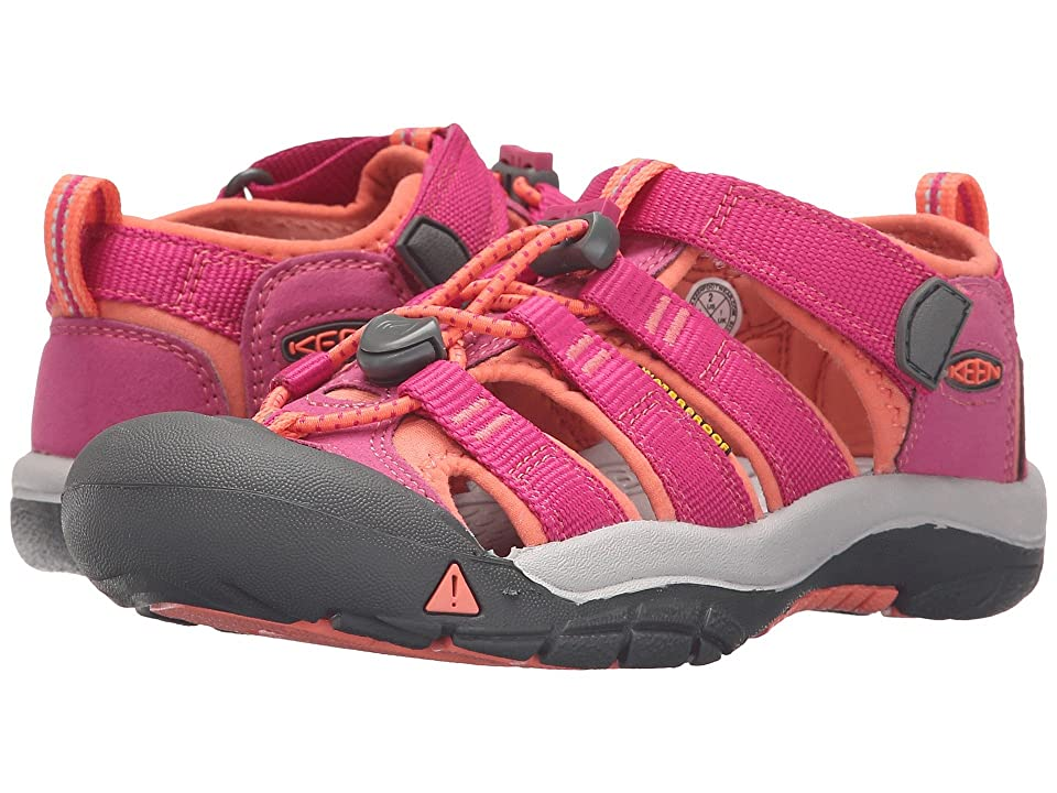 Keen Kids Newport H2 (Little Kid/Big Kid) (Very Berry/Fusion Coral) Girls Shoes