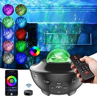 Shawlam 4in1スタープロジェクターライト プラネタリウム ベッドサイドランプ 投影ランプ 3 in 1ボタン/リモコン/APP遠隔操作 wifi/Bluetooth5.0/USBメモリに対応  1600万RGB 10種点灯モード タイ...