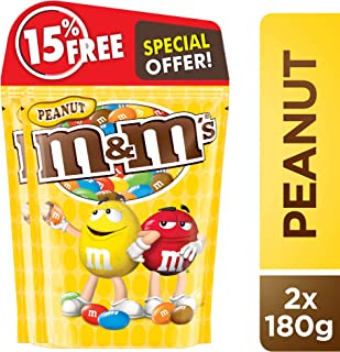 M&M's Peanut Chocolate 180g (Pack of 2)