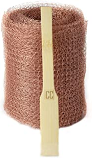 Copper Mesh with Packing Tool - Sturdy 1 lb. Roll - Mouse Rat Pest Rodent Control - A Non-Rusting Steel Wool Alternative Eco-Friendly Non-Toxic Option to Sealant Foam and Poison