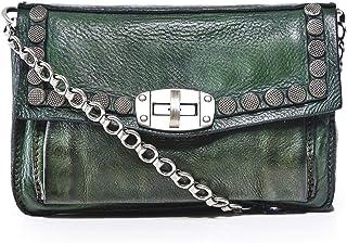Campomaggi Women's Leather Studded Shoulder Bag Green