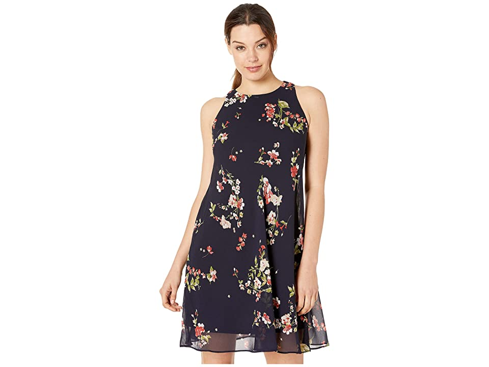 LAUREN Ralph Lauren Geminah Chimney Floral Dress (Lighthouse Navy/Blush/Multi) Women
