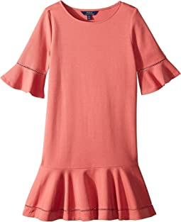 Ponte Inset-Lace Dress (Little Kids/Big Kids)