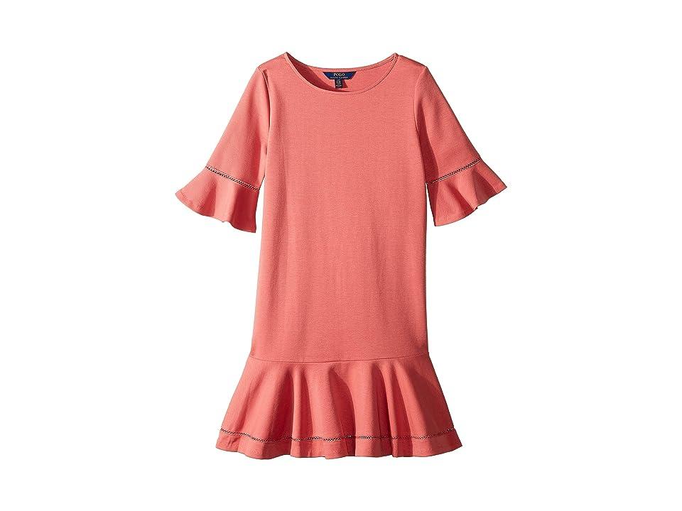 Polo Ralph Lauren Kids Ponte Inset-Lace Dress (Little Kids/Big Kids) (Adirondack Berry) Girl