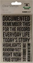 Kaisercraft CS182 Acrylic Rubber Captured Moments Stamp, 6.25-Inch by 4-Inch, Document, Clear
