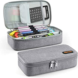 Pencil Case,Abrzon Big Capacity Pen Case Desk Organizer with Zipper for School & Office Supplies - 8.74x4.3x2.17 inches, (...