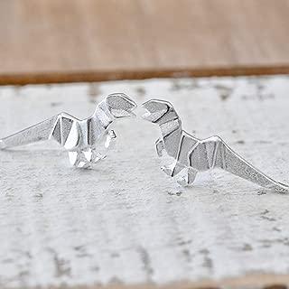 dinosaur earrings sterling silver