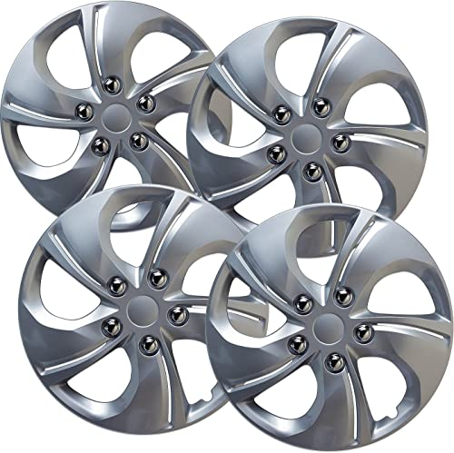 high quality 15 inch Hubcaps Best for 2013-2015 Honda Civic - (Set of 4) Wheel Covers 15in Hub Caps Silver Rim Cover new arrival - Car Accessories for 15 wholesale inch Wheels - Snap On Hubcap, Auto Tire Replacement Exterior Cap online